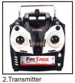 Transmitter JTS 825 RC helicopter spare parts