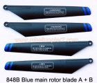 848B Blue main rotor blade A + B HuanQi Huan Qi helicopter parts