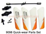 9098 Quick-wear Parts Set Double Horse RC Helicopter parts
