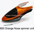 850 Orange Nose spinner unit HuanQi Huan Qi RC helicopter parts