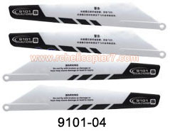 9101-04 Main rotor blade A & B black Double Horse RC Helicopter - Click Image to Close