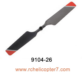 9104-26 Tail blade red Double Horse helicopter Shuang ma parts - Click Image to Close